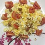Rührei mit Tomaten und Nüssen - Candida Frühstücks Rezept